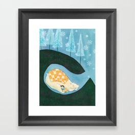 Hibernating Together Framed Art Print