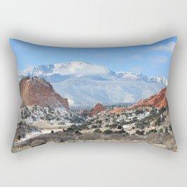 Snow at the Garden of the Gods, Colorado Springs Rectangular Pillow