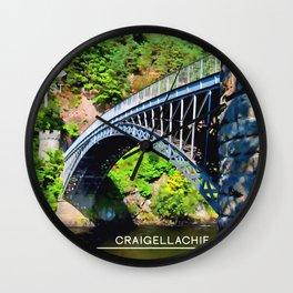 Craigellachie Bridge Wall Clock