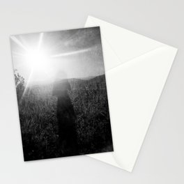 Sunlight, Shadows and Self-reflection in Black and White - Film Double Exposure Photograph Stationery Cards
