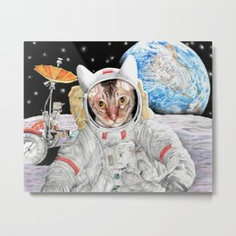 Buzz Cat Metal Print