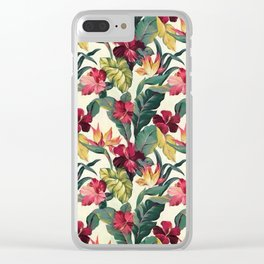 Colorful tropical garden Clear iPhone Case