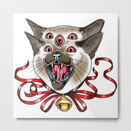 Siamese Kitty Metal Print