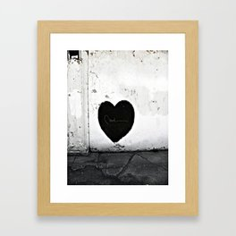 Street Heart Framed Art Print