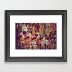 A Walk Through China Town Framed Art Print
