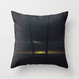 Gold on the Horizon Throw Pillow