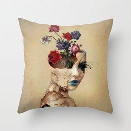Broken Beauty Throw Pillow