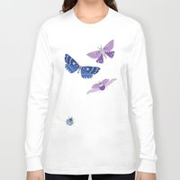 bugs Long Sleeve T-shirts featuring Hexagons & Bugs by Jessee Maloney - Art School Dropout