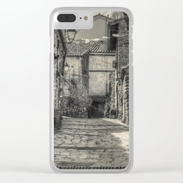 Mountain village Clear iPhone Case