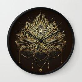 Ornamental Lotus flower Wall Clock