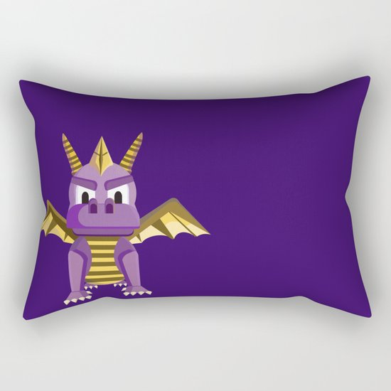 Spyro vector character fanart Rectangular Pillow