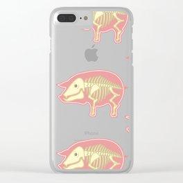 Piggy Pig Clear iPhone Case