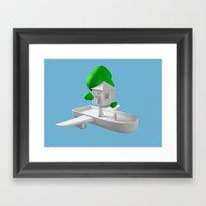 Tree House Boat Framed Art Print