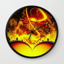 Firestorm from a double sun Wall Clock
