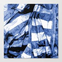 bands Canvas Prints featuring Blue Bands by Motif Mondial