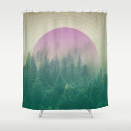 Orchid Vibes Forest Shower Curtain