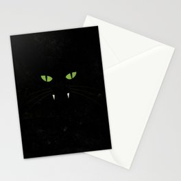 """Black Cat"" Halloween Poster Stationery Cards"