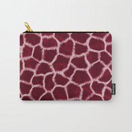 Burgundy Giraffe Skin Carry-All Pouch