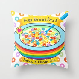 Eat Breakfast! Throw Pillow