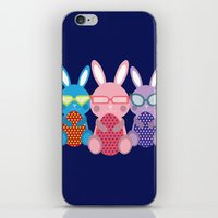 rabbits iPhone & iPod Skins featuring Rabbits by dunstanvassar
