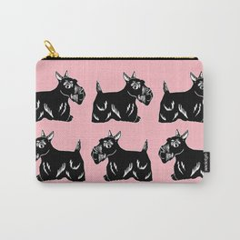 Scottie Dogs Pink & Black Pattern Carry-All Pouch