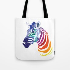 Rainbow Zebra Colorful Animal Tote Bag