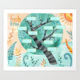 (Fill in Your Own) Family Tree Art Print