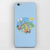 pasta iPhone & iPod Skins featuring Rainbow Pasta by Ian Byers