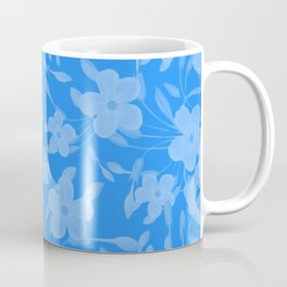 Forget-Me-Not Flowers in Blue Coffee Mug