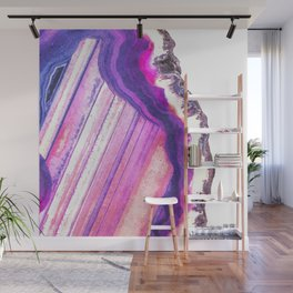 Druze violet agate Wall Mural