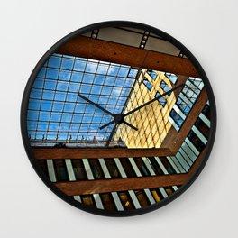 Modern office building in Hamburg Wall Clock
