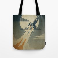 60s Tote Bags featuring Night Launch by Danny Haas
