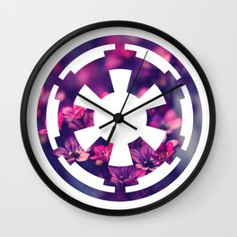 Floral Imperial Cog Wall Clock