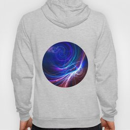 Pink and blue fractal Hoody
