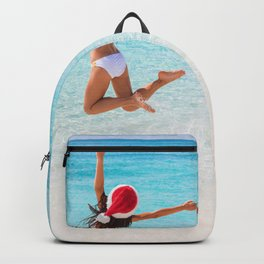 Christmas vacation under the Caribbean sun Backpack