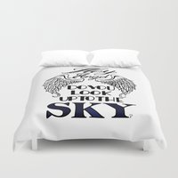 larry stylinson Duvet Covers featuring Hey Angel (Larry Stylinson) by Arabella
