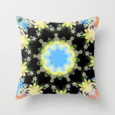 Kaleidoscope 'Twisted Flower' Throw Pillow