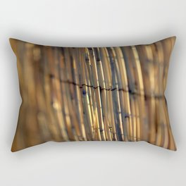 Bamboo Fence Rectangular Pillow