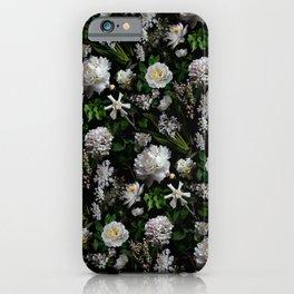 Midnight Garden Moody Florals  iPhone Case