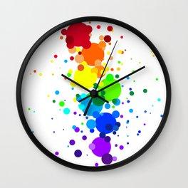 Circles Rainbow Wall Clock