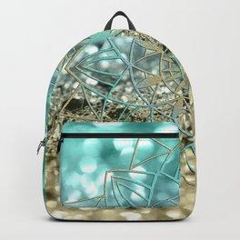 Star Mandala on Lemon Twist Beach Glitter #4 #shiny #decor #art #society6 Backpack