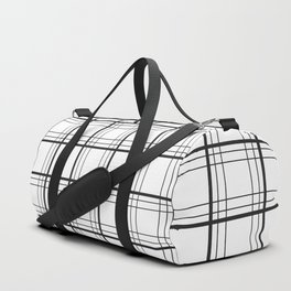 Checkered black and white classic pattern Duffle Bag