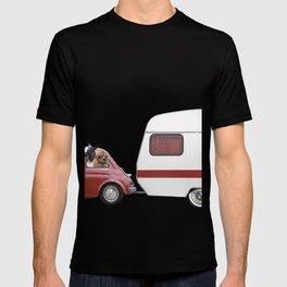 NEVER STOP EXPLORING - CAMPING PALM BEACH T-shirt