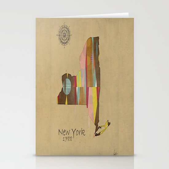 new york state map Stationery Cards