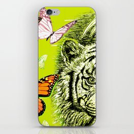 Tiger and Butterflies iPhone Skin