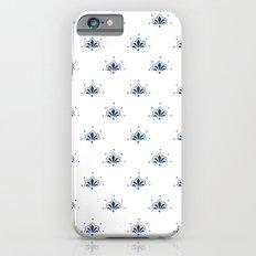 Blå Blomst Slim Case iPhone 6s