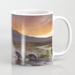 Sligachan Bridge and The Cuillins, Isle of Skye at sunset Coffee Mug