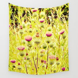 Vintage Thistles Wall Tapestry