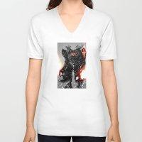 zodiac V-neck T-shirts featuring Zodiac Aries by Benedick Bana