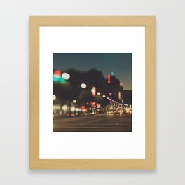 Hollywood Boulevard. Los Angeles Framed Art Print